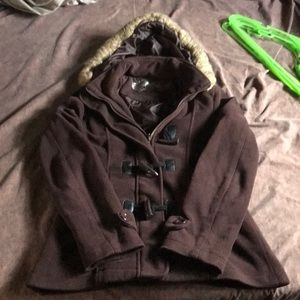 Rosio brown hooded jacket size s